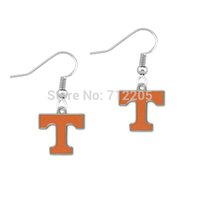 Wholesale NCAA pair a enamel single sided University of Tennessee Volunteers pendant SEC sports earring