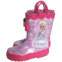 Wholesale Frozen Boots Rainboots Anna Elsa Princess Cartoon Pattern Water Shoes Boots Thickened Non toxic Tasteless Environmental Protection SS1013