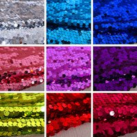 dress fabrics - 9 mm Encryption Sequined Fabric Hanging Piece Wedding Dress Dance Performances Sequined Stage Decoration Background Evening Clothing Fabric
