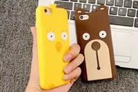 apple chicken - For Iphone S plus S th D Bear Teddy Soft Silicone gel Case Cute Cartoon Chicken Chickabiddy Chook animal Skin Rubber luxury