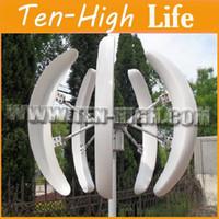 Wholesale Fedex Freeshipping W V Vertical Axis Wind Turbine Generator V small windmill generator max power W