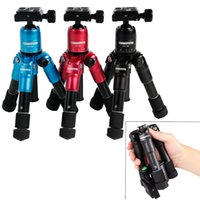 Portátil de peso ligero de aleación de aluminio cámara de viaje trípode con el brazo oscilante llevan bolsa para cámaras Nikon DSLR cámara videocámara statief