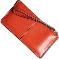 women buckles - Wallets Credit Card Wallet Woman Wallet The new Full leather wallet Ms long section Wrist handbags buckle leather wallet New Wallet