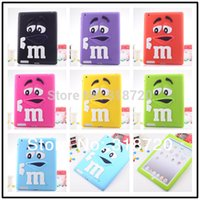 Wholesale 2014 New Hot Sale For Ipad Back cover case fashion cartoon soft rubber silicon skin covers B763