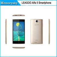 alfa free - LEAGOO ALFA Android Smartphone GHz Quad Core inche Screen RAM GB ROM G MP Camera DHL free