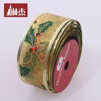 Wholesale Lin Jie Christmas tree ornaments gilt ribbon bow ribbon Christmas tree decoration multicolor ribbon