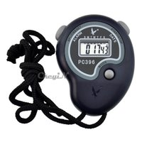 Wholesale Sports Stopwatch Professional Handheld Digital LCD Sports Stopwatch Chronograph Counter Timer with Strap and Whistle H23
