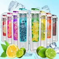 Wholesale 800ML Tritan Fruit Infusing Infuser Water Sports Health Lemon Juice Bottle Cup