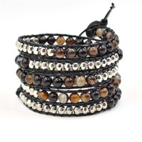 Asian & East Indian beautiful fashion jewelry - infinity fashion jewelry bracelet beautiful winding leather bracelet layer of agate beads bracelet leather wrap bracelet JBN