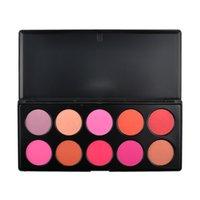 Wholesale 10Colors Blusher Palette Professional Makeup Powder Blush Palette Makeup Blusher Cosmetic Blush Blusher