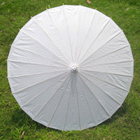 Paper advertisement photography - 24pcs Children Style Paper Umbrella Mini Solid Color Parasols Photography Advertisement Accessories H105S