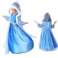 Cheap 20PCS Girls Christmas Frozen Dress Elsa & Anna Autumn Princess Brand Children Costumes Dress With Hoodies Cape 39838906316 cheap 201410HL