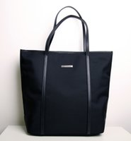 Wholesale new arrival hot sale women oxford shoulder bag black color