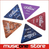 Celluloid ap logo - 100pcs Alice AP L mm Mix Color Celluloid Large Triangle Guitar Picks with Logo Printing MU0277