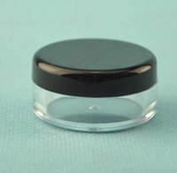 Wholesale 2500 white black cream jar cosmetic container plastic bottle display bottle sample jar cosmetic packaging