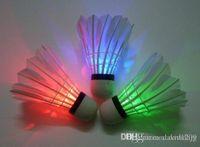 Wholesale New2015 LED Badminton Shuttlecock Brand New Dark Night Glow Birdies Lighting Indoor Sports Flash Colors Drop Shipping
