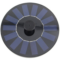 Wholesale Black Floating Solar Panel Power Pool Water Pump Fountain Kit for Garden Pond CM L H Long Life Time CF003