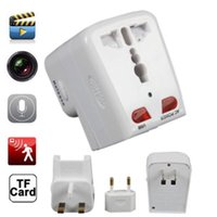 bd video - 480p Mini Hidden Motion Detecting camera plug universal adaptor mini DV DVR spy hidden pinhole camera video recorder BD