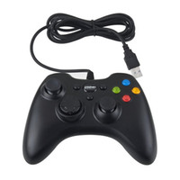 Wholesale Wired USB Controller Gamepad Joystick Joypad for PC Computer Laptop xBox360 Game Black