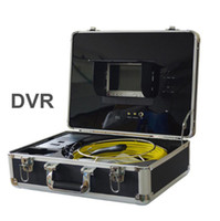 Wholesale Freeship m cable DVR Pipe Wall Sewer Inspection Camera System quot waterproof Sewer detection video endoscope camera system