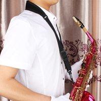 Wholesale 20pcs hot product Black Duarble Single Shoulder Sling Belt Strap with Plastic Hook for Sax Saxophone MIA_438