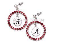 alabama crimson tide - Alabama Crimson Tide crystal circle sport earrings10Pairs