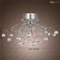 Wholesale Modern Crystal LED Chandelier Ceiling Light Fixture Lighting Crystal Chandelier Lamps Pendent light with G4 Lights