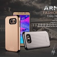 armor carrier - Luggage Suitcase Carrier Slim Shockproof Soft TPU Silicone Hard PC armor Case For Iphone plus for samsung galaxy s6 note5 retail