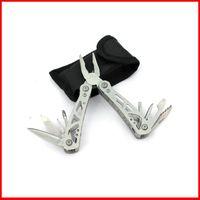 Wholesale High quality outdoor Multi Function Folding Pocket tongs mini Plier Knife Screwdriver Bottle opener Plier