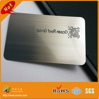 Wholesale CR80 hole punched stainless steel material brushed finish metal card mm mm mm etc