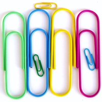 big binder clips - 10cm very big Paper clips colorful Clips bookmark in Blister Office supply mix color order