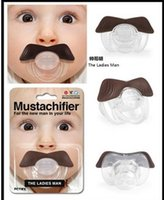 Wholesale 50pcs Stile Safe Quality Baby Products Baby Funny Pacifier Mustache Pacifier Infant Soother Gentleman bpa free H15461