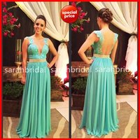 Ribbon Edge evening wear - 2014 Chiffon Wedding Evening Gowns For Special Occasion Formal Party Wear Hot Sale Cheap Plus Size Mint Backless Arabic Long Prom Gowns