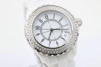 big ceramics - NEW LUXURY mm big watches Top quality wristwtches quartz movement womens white ceramic watch diamond bezel fashion ladies watch