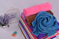 beauty salons bath - Long cm cm Wide Microfiber Towel Beauty Salon Barber Shop Dedicated g Super absorbent Towel Dry Hair Towel Edging