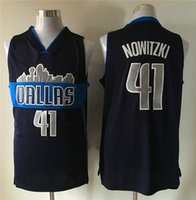 Wholesale Dirk Dirk Nowitzki blue Jersey embroidered stitched jerseys high quality sports clothing clothes