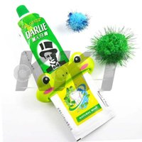 Wholesale 1pc Squeeze Paste Dispenser Roll Holder Cartoon Frog Animal Toothpaste Tube Squeezer Easy New