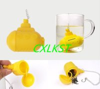 Wholesale Fashion Silicone Mini Submarine Tea Loose Infuser Chain Filter Diffuser Strainer