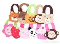 Wholesale 400PCS HHA133 Baby saliva Towels Cater s Baby Bibs layer waterproof D Cartoon Animals BIBs Infant Animal Baby Baby Bibs Burp Cloths