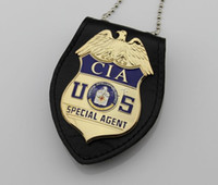 Wholesale The United States CIA Badge CIA Bagent badge Number Multifunctional Wallet One Set High Quality Metal Badges DHL Free