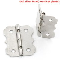 Wholesale Door Butt Hinges rotated from degrees to degrees Silver Tone Holes mm x mm new