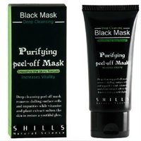 Wholesale 300pcs SHILLS Black MASK Deep Cleansing purifying peel off mask Clean Blackhead facial mask ML