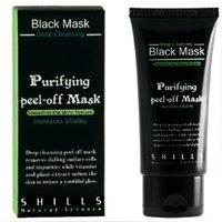 Wholesale 300pcs SHILLS Black MASK Deep Cleansing purifying peel off mask Clean Blackhead facial mask ML