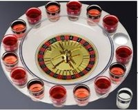 Wholesale 16 transparent swivel plate cappers russian roulette wine glass