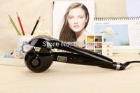 Wholesale 1012 New2014 Pro perfect curl automatic ceramic hair curler LCD Screen Digital Display magic styling tools hair roller hair care