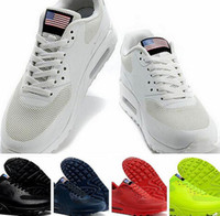 american flag boots - 2016Trainers Max HYP PRM QS Men Women Running Shoes Air Hyperfuse American Flag Black White Red Navy Blue Gold Silver Pink Sport