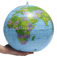 Wholesale PVC Globe Map Inflate Inflatable Earth World Teacher Beach Ball Geography Detailed Illustration Teaching Aid Toy