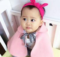 Cheap autumn&winter girls fashion poncho Best pink sweet bowknot kid outwear