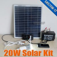 home solar power system - 20W Solar power system V DC input Watts solar kit for home VDC led lamp with V USB multi connect mobile phone charger