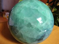 Carved stone carving jade - 90mm Jade carving Glow In The Dark Stone crystal Fluorite sphere ball